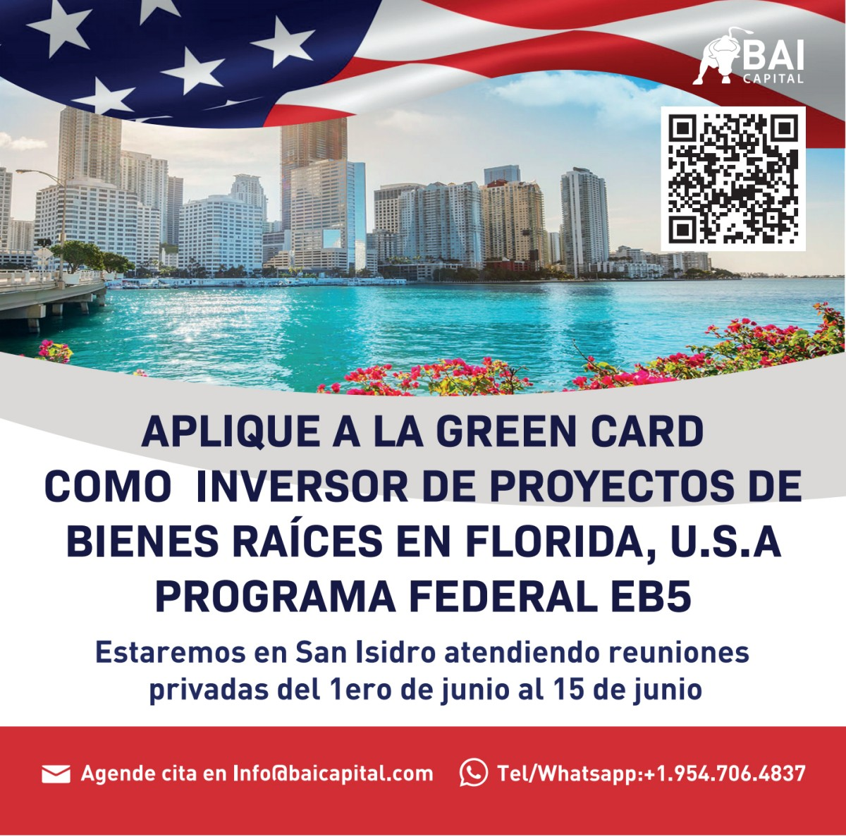 Apply for the Green Card as an investor in real estate projects in Florida, U.S.A. through the federal EB-5 program
